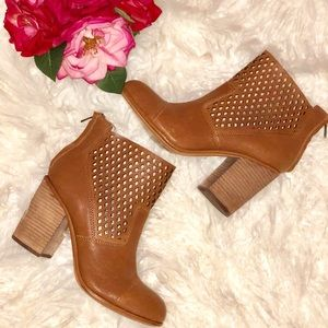 Calvin Klein Melina Tan Leather Booties